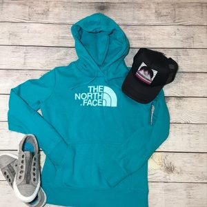 The North Face Hoodie-Teal-Size Small Women's